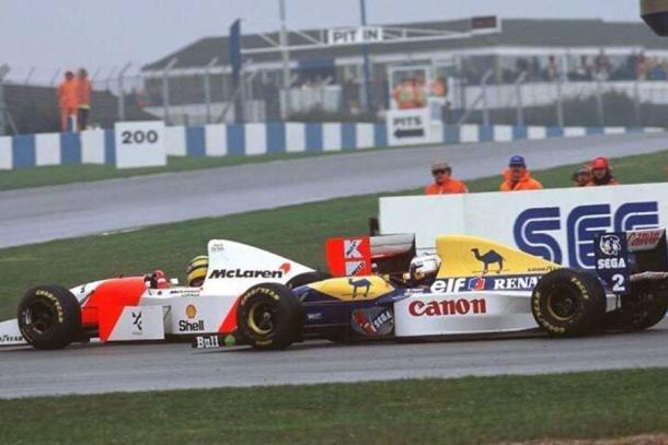 Senna en donington park  (fuente: donington park )