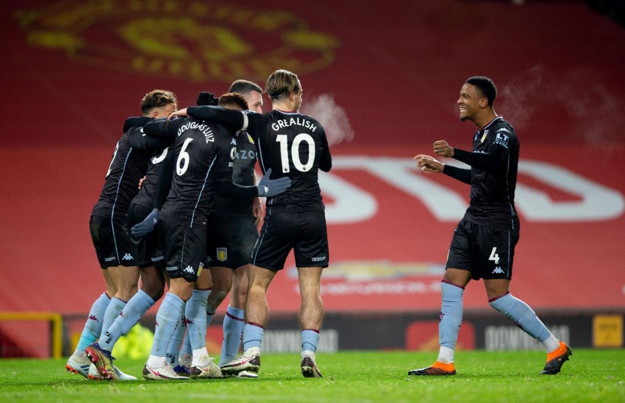 El Aston Villa celebrando el 1-1 / FOTO: Aston Villa