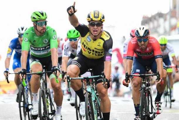 Dylan Groenewegen, vencedor de la séptima etapa del Tour 2019. | Foto: LeTour