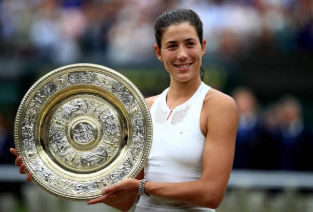 Muguruza, 2017 Wimbledon ladies' singles winner. Photo: John Walton