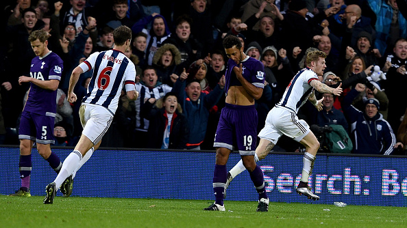 James McClean earnt a point for West Brom versus Spurs back in December (photo:getty)