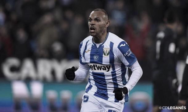 Braithwaite, goleador del local | Foto: CD Leganés