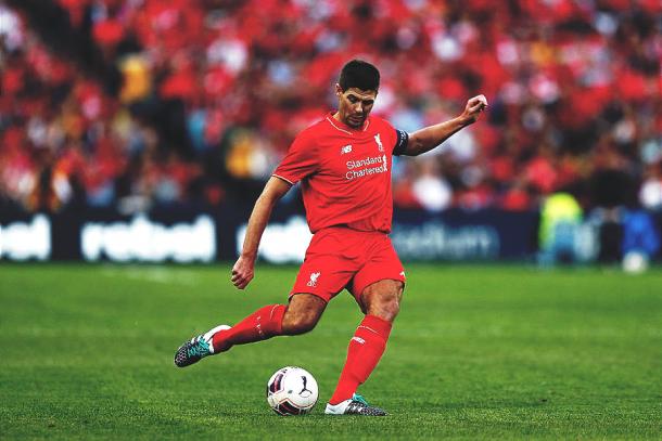 Steven Gerrard en su último año como jugador del Liverpool. | Foto: Getty Images