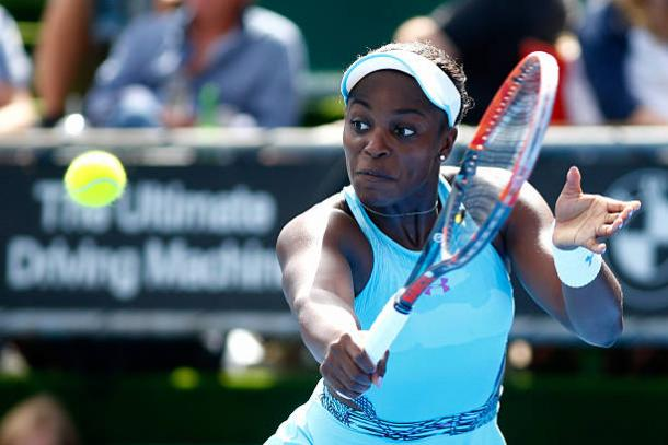 Stephens in action in Auckland earlier this year en route to winning the title. Photo credit: Phil Walters/Getty Images.