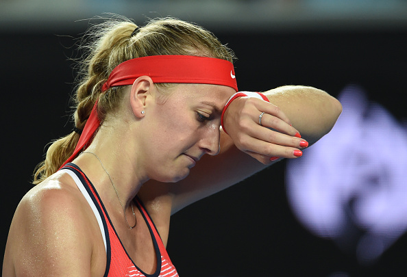 The first two months of 2016 saw Kvitova rack in just two wins in eight matches. Photo credit: Williams West/Getty Images.
