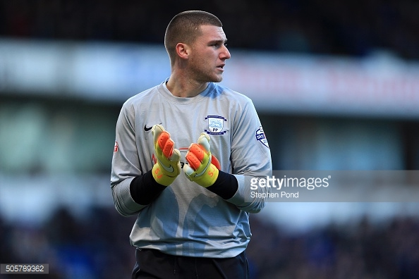Above; Manchester United's Sam Johnstone during his time with Preston North End | Photo: Getty Images