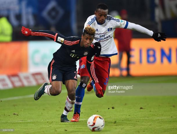 Kingsley Coman fue una pesadilla para la defensa del Hamburgo. // (Foto de Getty Images)