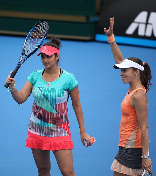 Sania Mirza (left) and Martina Hingis (Photo: Getty Images)