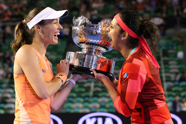 The pair with their third Slam together | Photo: Scott Barbour/Getty Images