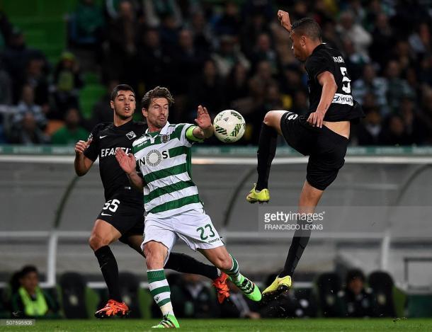 Rafa Soares, aqui em ação frente ao Sporting, vai regressar do empréstimo à Académica. (Fonte: Getty Images)