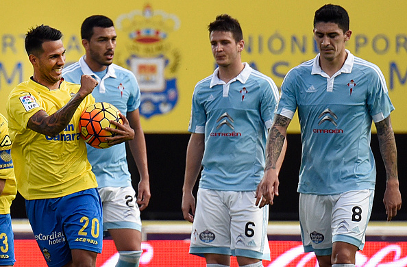 Jonathan Viera celebrating for Las Palmas | Photo: Desiree Martin/AFP/Getty Images Sport