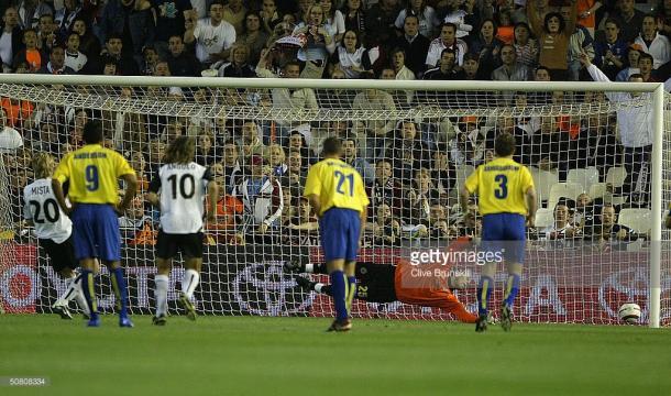 Mista, anotando el gol decisivo de la eliminatoria | Fuente: Getty Images