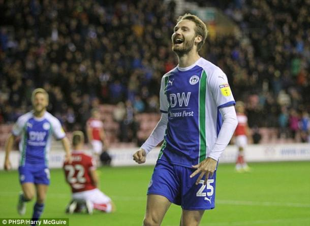 Powell marked his 100th appearance for Wigan in the best way possible/Photo: Harry McGuire/PHSP