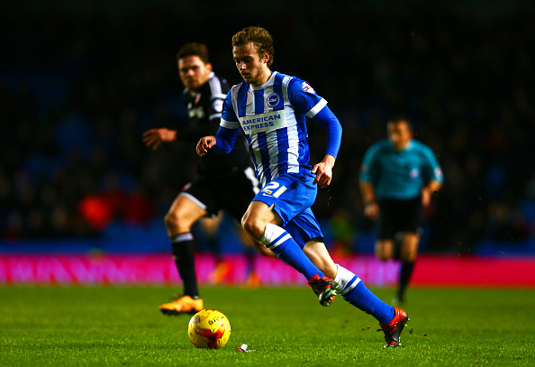 Derby County loanee in action for Brighton & Hove Albion last season | Photo: Getty Images