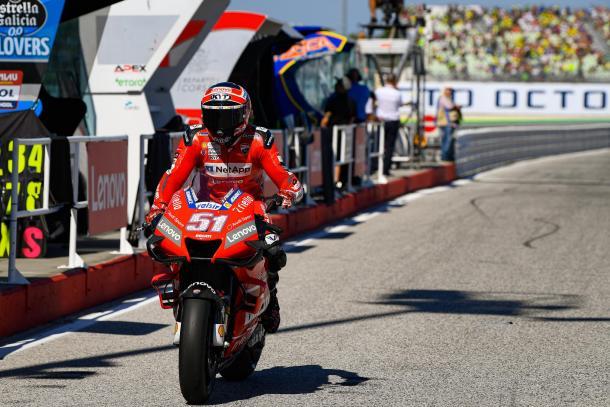 Pirro, durante los entrenamientos del GP de San Marino. Imagen: MotoGP