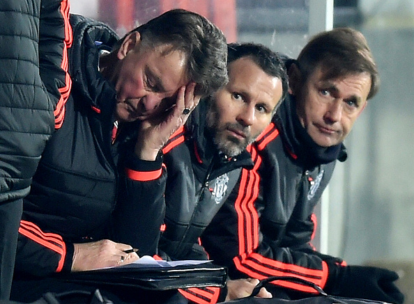 Louis van Gaal watches on in Denmark as his side lose again (photo:getty)