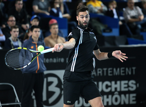 Benoit Paire of France in action during his quarter-final at the Open 13, an ATP Tour 250 tournament at Palais des Sports on February 19, 2016 in Marseille, France. (Photo by Jean Catuffe/Getty Images)