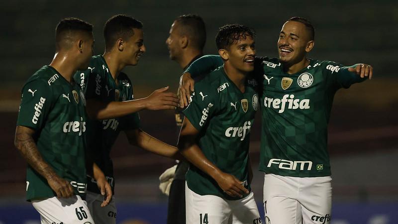 Scarpa após marcar o gol da partida (Foto: Divulgação/Palmeiras)