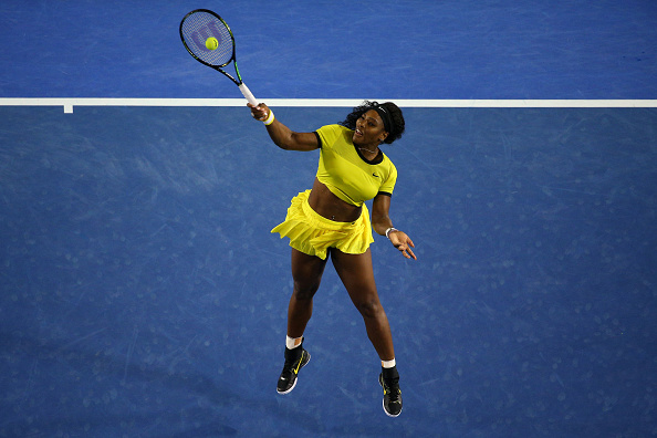 Serena Williams during the Australian Open final against Angelique Kerber (Photo:Cameron Spencer/Getty Images)