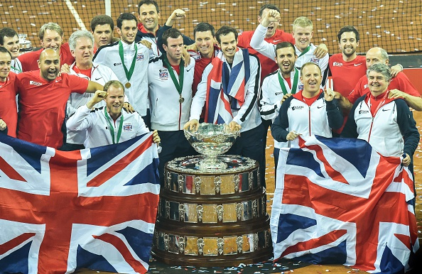 Great Britain celebrating winning the Davis Cup (Photo:Philippe Huguen/Getty Images)