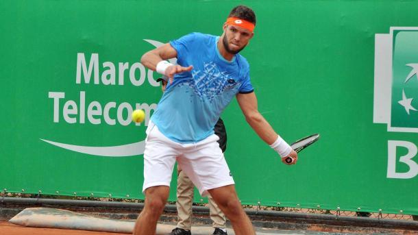 Jiri Vesely in action against Nikola Mektic (Photo:Ouamak Abdessamiaa)
