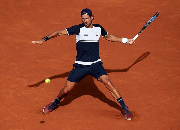 Feliciano Lopez in action against Philipp Kohlschreiber (Photo: Manuel Queimadelos Alonso/Getty Images)