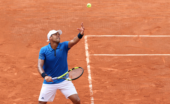 Jo-Wilfried Tsonga in action during his first round match against Frank Dancevic (Photo:Jean Catuffe/Getty Images)