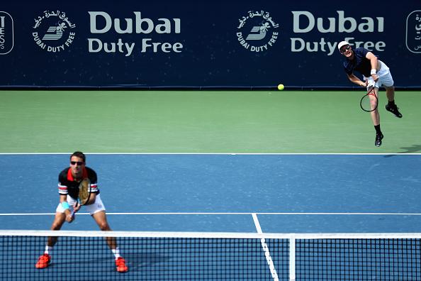 Jamie Murray (right) and Tommy Robredo (Photo: Dubai Duty Free Tennis Championships)