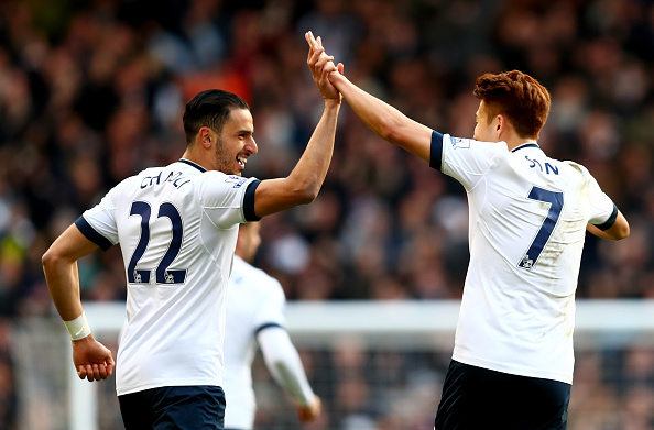 Chadli has scored 25 goals in three seasons for Spurs