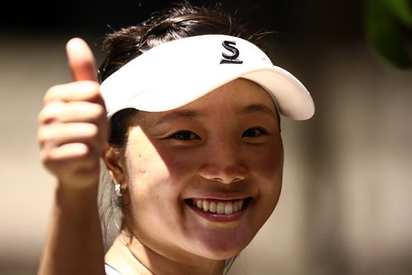 Elated Nara after her win | Photo courtesy of: Stanley Chou/Getty Images