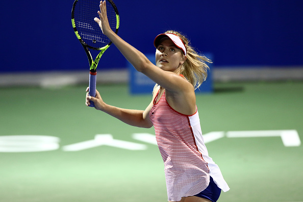 Bouchard cruises comfortably | Photo courtesy of: Stanley Chou/Getty Images