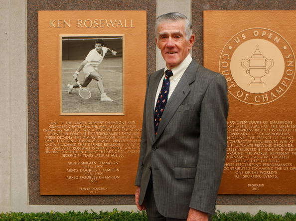 Ken Rosewall at the US Open (Photo: Mike Stobe/Gettty Images)