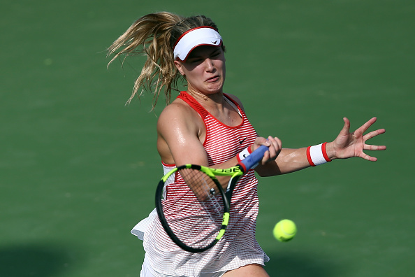 Bouchard races through | Photo courtesy of: Stanley Chou/Getty Images