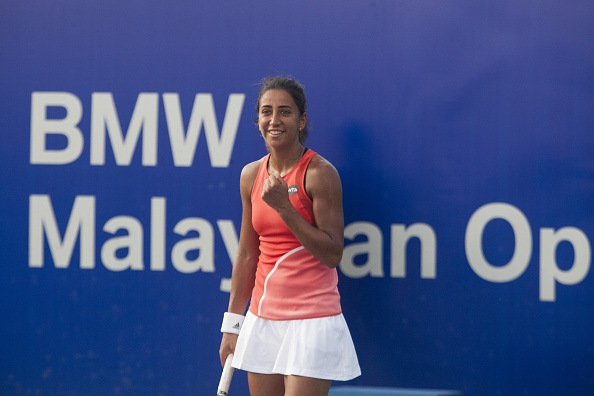 A happy Buyukakcay with her win | Photo courtesy of: Stanley Chou/Getty Images