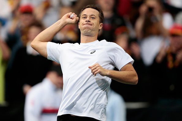 Kohlschreiber wins the opening rubber | Photo courtesy of: Oliver Hardt/Getty Images