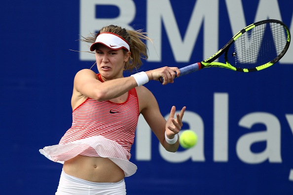 Bouchard fires her way to take the first set | Photo courtesy of: Stanley Chou/Getty Images