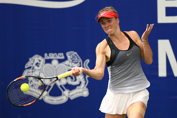 Svitolina takes the lead but doesn't convert | Photo courtesy of: Stanley Chou/Getty Images