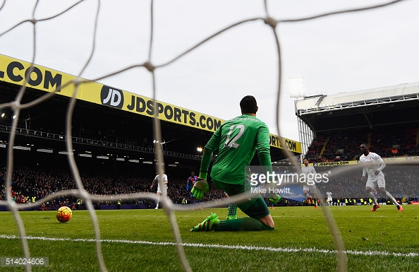 Benteke scores a controversial penalty against Palace in March | Photo: Getty images / Mike Hewitt