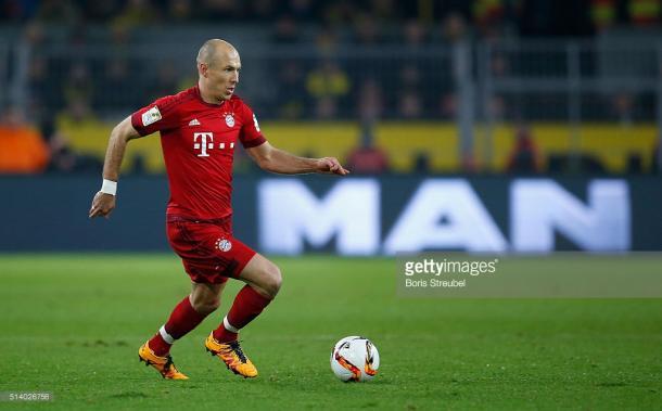 Robben é uma das grandes baixas para o jogo desta noite