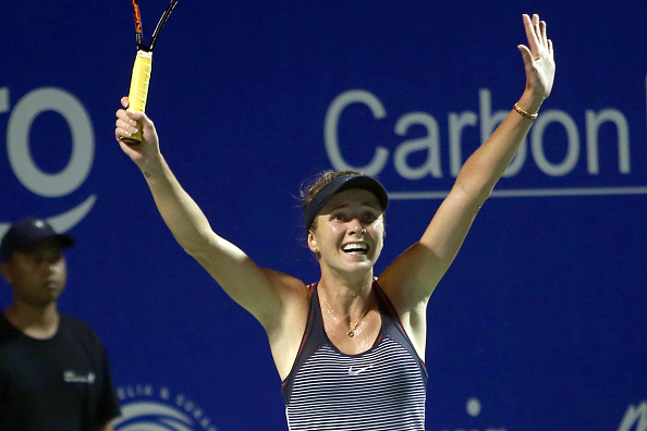 Ecstatic Svitolina after eventually closing the match | Photo courtesy of: Stanley Chou/Getty Images
