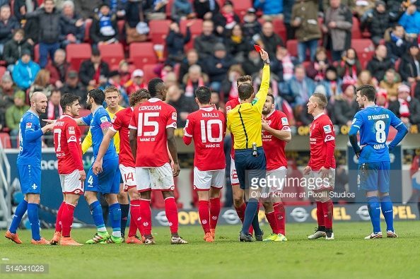 Donati was shown a red card the last time these two sides met   Photo: Getty Images