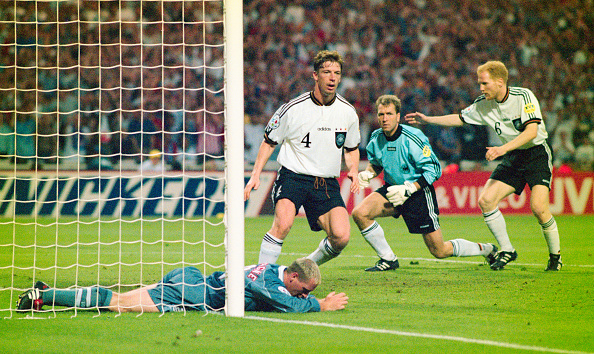 England's passage to the semi-final in Euro '96 is their furthest in 20 years (photo:getty)