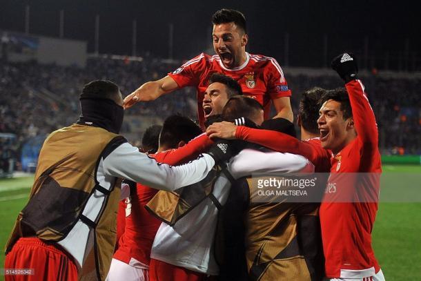O Benfica sofreu, mas conseguiu chegar aos quartis com todo o mérito