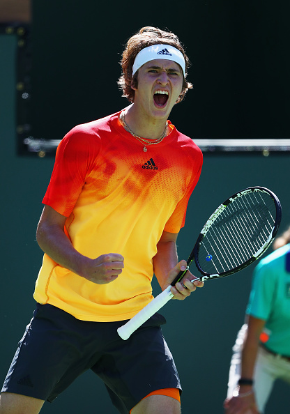 A jubilant Zverev after his hard fought victory | Photo courtesy of: Julian Finney/Getty Images