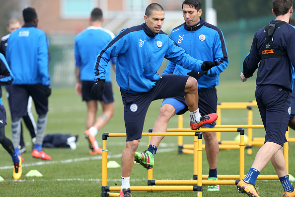 Inler in Leicester City training. Photo: LCFC