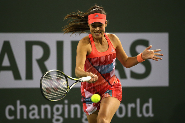 Ivanovic with a forehand Photo: Getty Images / Sean M. Haffey