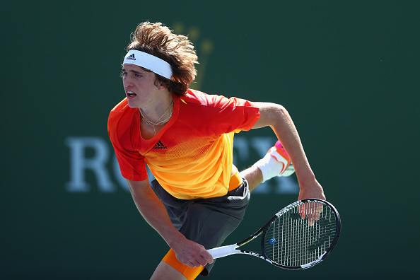 The German serving his way to take the first set | Photo courtesy of: Julian Finney/Getty Images