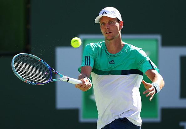 Berdych playing a shot in the first set | Photo courtesy of: Julian Finney/Getty Images