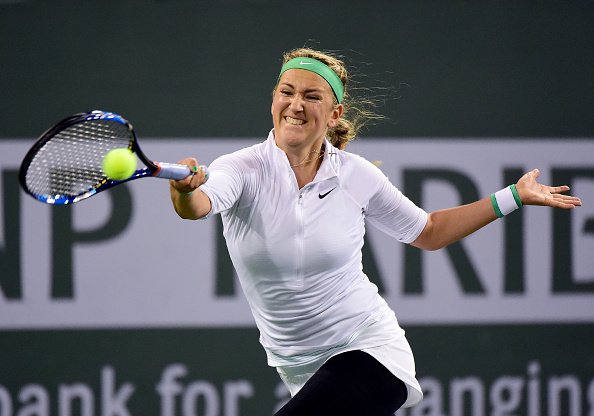 Azarenka breaks first in the decider | Photo courtesy of: Harry How/Getty Images