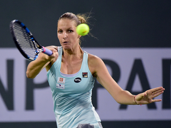 Pliskova was in the driver's seat in the early stages of the first set | Photo courtesy of: Harry How/Getty Images